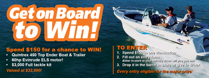 Win a boat and trailer!