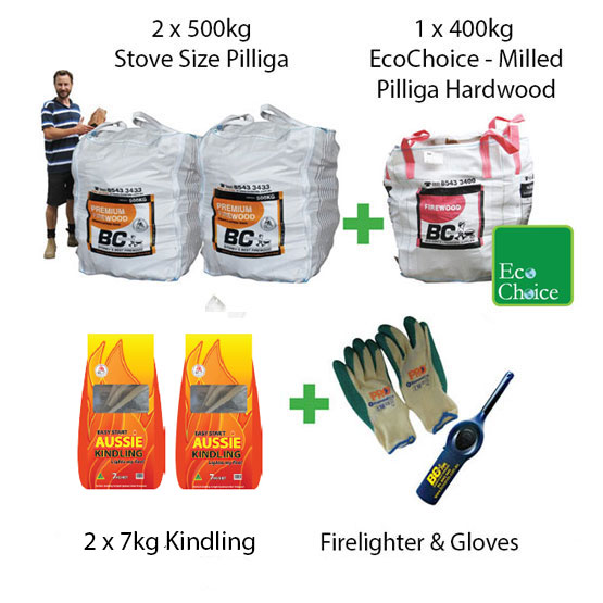 - Firewood Mega Pack Stove Size Pilliga (FAA Approved)