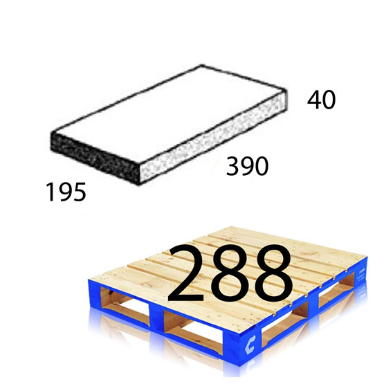 Block 50.31 Capping Tile 390x195x40mm Baines Betta Each (288 per pallet)