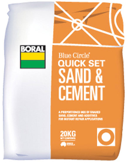 Quickset Sand&Cement Boral 20k g