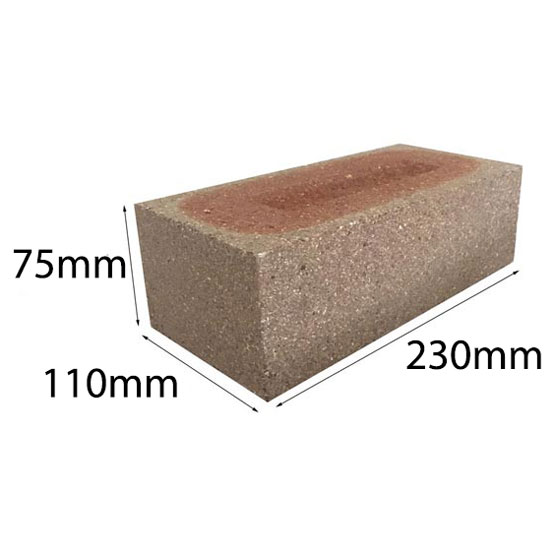Brick Dry Press Mixed Face 230 x110x75mm per Each