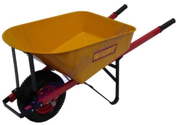 Wheel Barrow Westmix Yellow Steel Wide Wheel