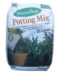 Potting Mix 25L G/P Brunnings