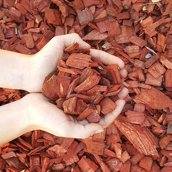 Wood Chip Mulch Red Softwood Bulk