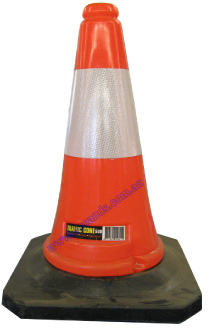 Cone Traffic 500mm Reflective Orange