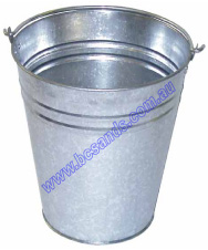 Bucket Standard Galvanised 15L