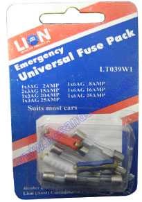Fuse Pack Glass Ceramic Universal Pk8 LT039W1