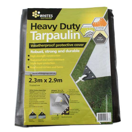Tarp silver heavy duty 8'x10' for keeping firewood dry