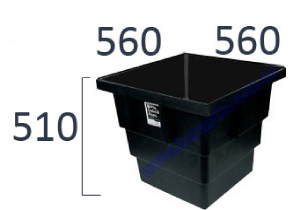 Stormwater Pit Only 560 x 560 x 510 Plastic Black