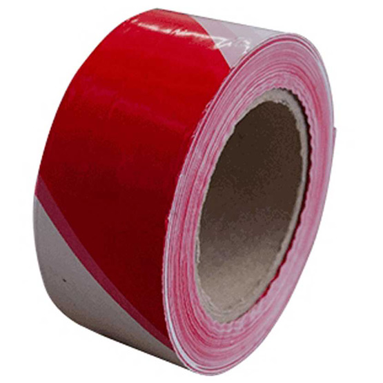 Tape Safety Red/White 75mm x 100m