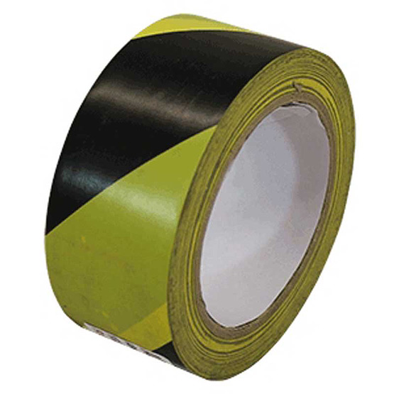 Tape Safety Yellow/Black 75mm x 100m
