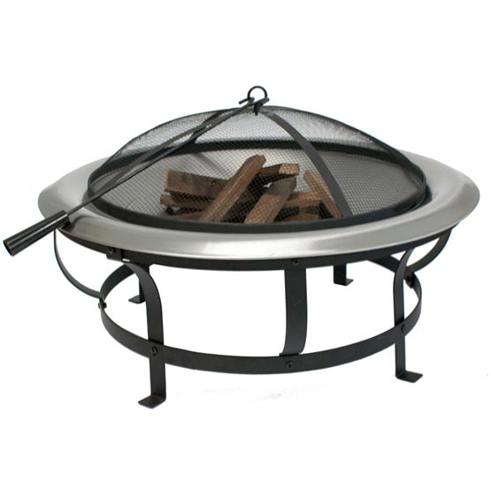 Firepit Stainless Steel 76cmx45cm