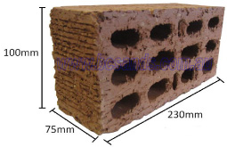Brick Extruded Common Lightweight (Each) 230 x 110 x 75mm