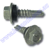 Screw Self Drill Hex 12g x 65mm GAL w/Neo Washer (Pk=100)
