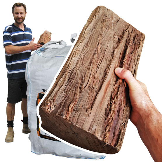 Firewood Pilliga Ironbark 500k g Bulk Bag (FAA Approved)