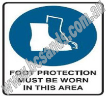 Site Sign Foot Protection Must Be Worn In This Area 600x450