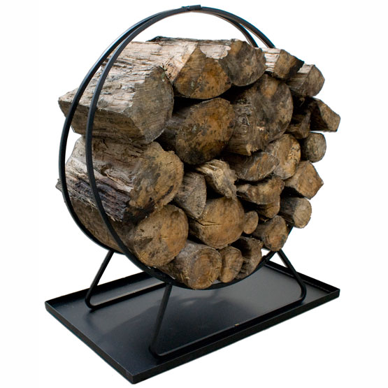 Firewood Ring with tray. Also useful as a carrier for your firew