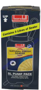 Natural Finish Sealer Pump Pk 5L