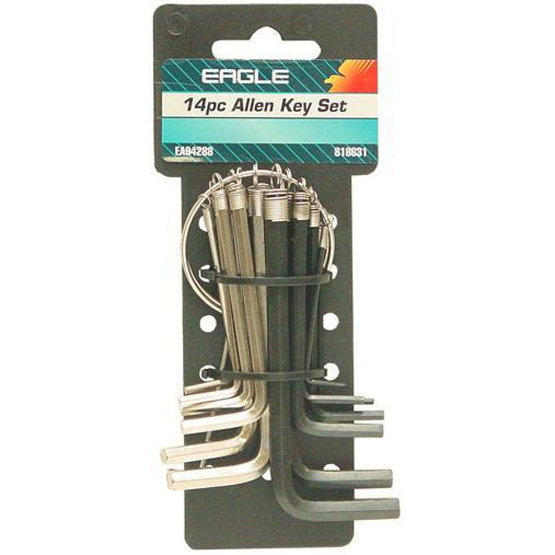 Allen Key Set AF/MM Eagle 14pc