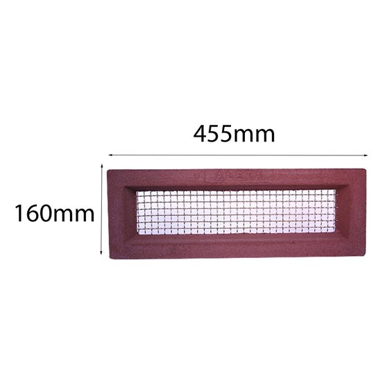 Vent 460x160mm Brass Wire Red Surround Acme