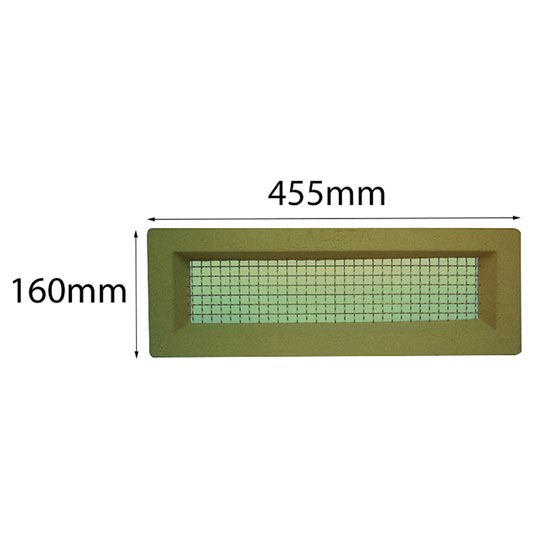 Vent 460x150mm Brass Wire Cream Surround Acme