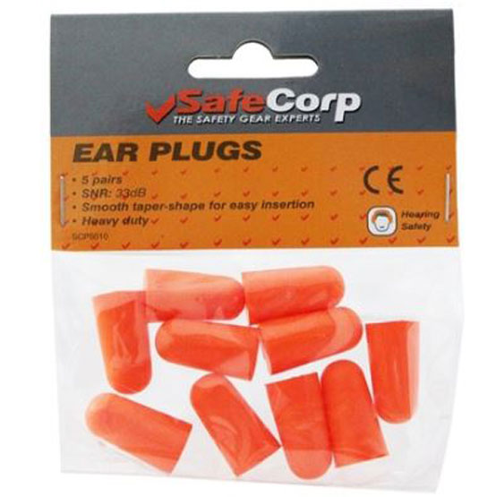 Ear Plugs Soft Foam Pack of 5 Pairs