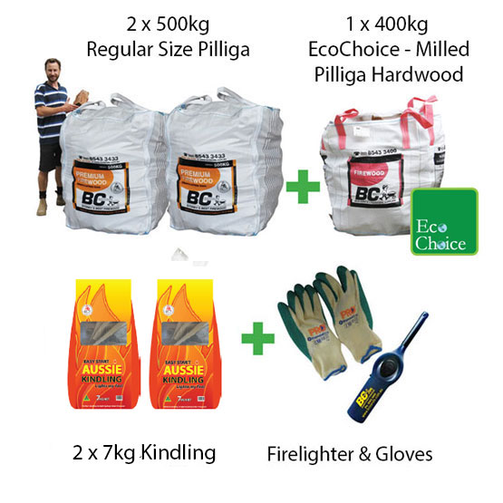 Firewood Mega Pack Regular Pilliga (FAA Approved)