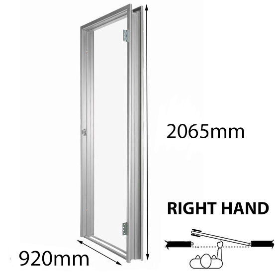 Door Frame Metal 920x2065mm RH 114mm Throat Fire Rated