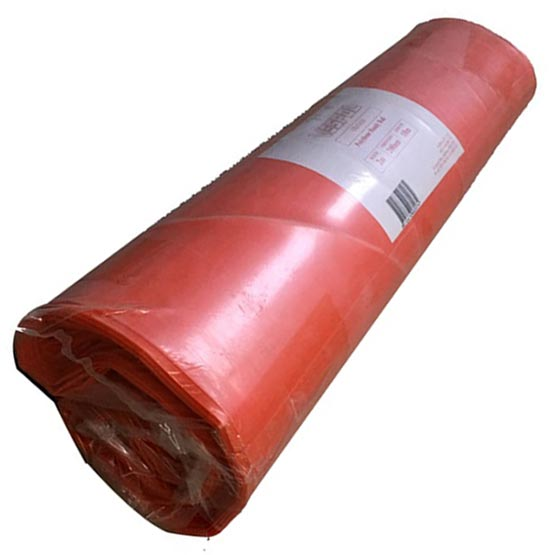 Plastic Orange Handy Roll 2mx10mx200um thick Builders/Concrete Film
