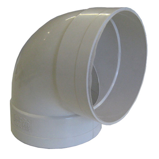 Pipe PVC SWF Bend 90mm 90 Degrees