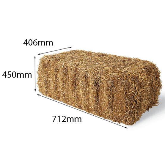 Straw Bale Med 712x406x450mm