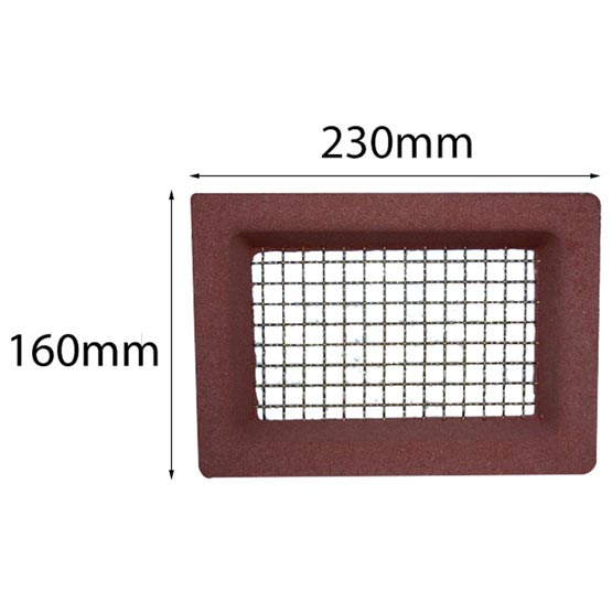 Vent 230x160mm Brass Wire Red Surround Acme