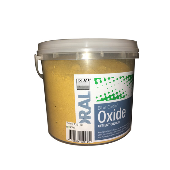Oxide Yellow 920 500g Boral Blue Circle
