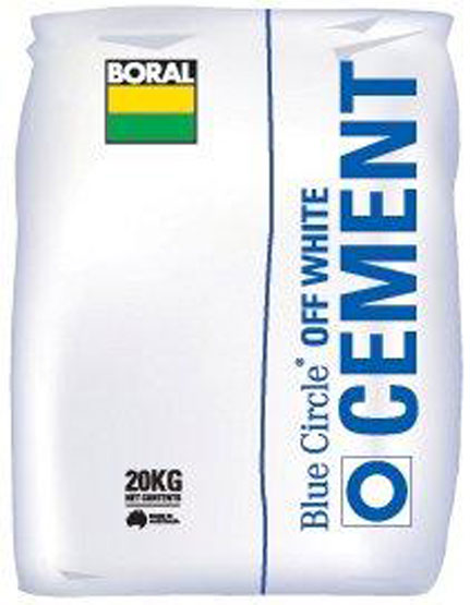Cement Off White Boral 20kg