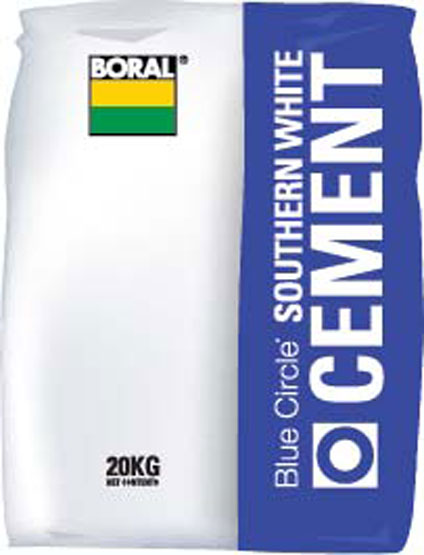 Cement Boral 20Kg Pure White Southern