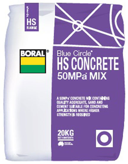 Concrete High Strength 50MPa Boral 20kg