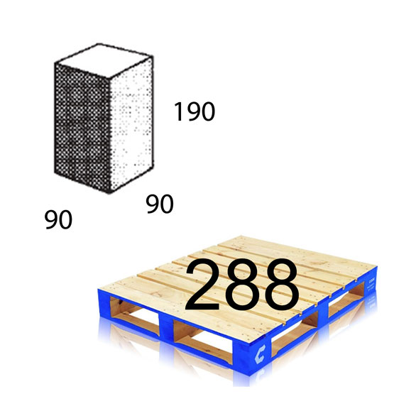 Block 10.04 1/4 Length 90x190x90mm Baines Betta Each (288 per pallet)