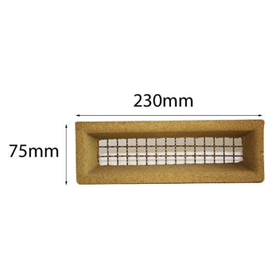 Vent 230x75mm Brass Wire Cream Surround Acme