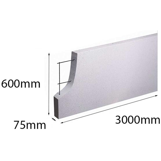 Hebel PowerPanel 3000x600x 75mm (PowerFence) (see * for freight costs)