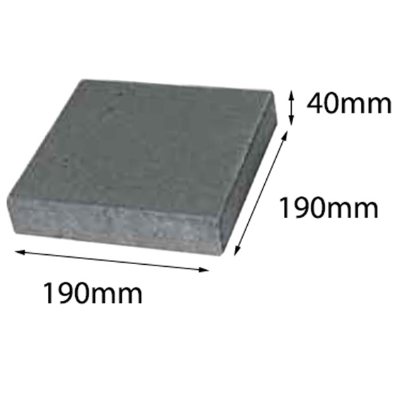 Paver Easy Pave Charcoal 190x190x40 Baines (28=1m2) 50-33