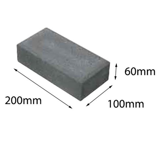 Paver Metric Charcoal 200x100x60 Baines (50=1m2) 60-200