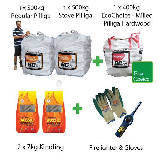 Firewood Mega Pack Combo Pilliga (FAA Approved)