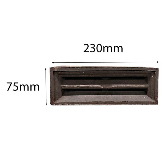 Vent Traditional Single Louvre 230x75mm in Manganese
