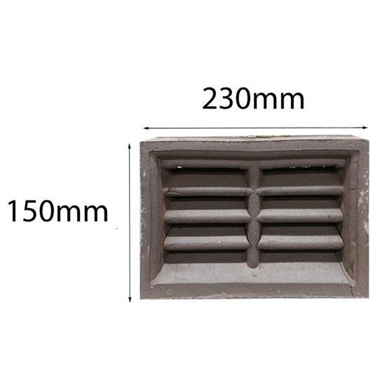 Vent Traditional Double Louvre 230x150mm in Manganese