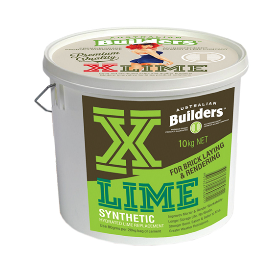X Lime 10kg Bucket Australian Builders