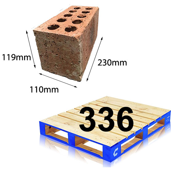 Brick Schooner 230x110x119mm Each (196 per pallet)