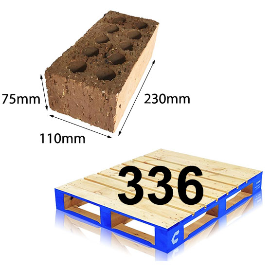 Brick Extruded Super Common 230x110x75mm Pallet of 336
