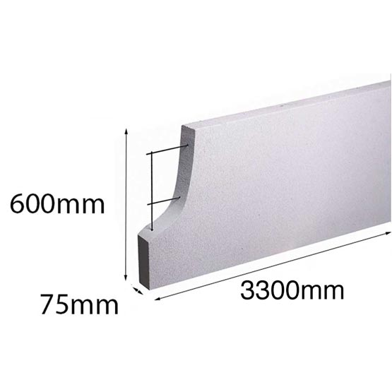 Hebel PowerPanel 3300x600x x75mm (PowerFence) (see * for freight costs)