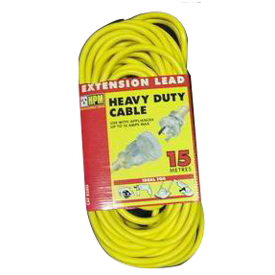 Lead Extension Heavy Duty 15m 10amp