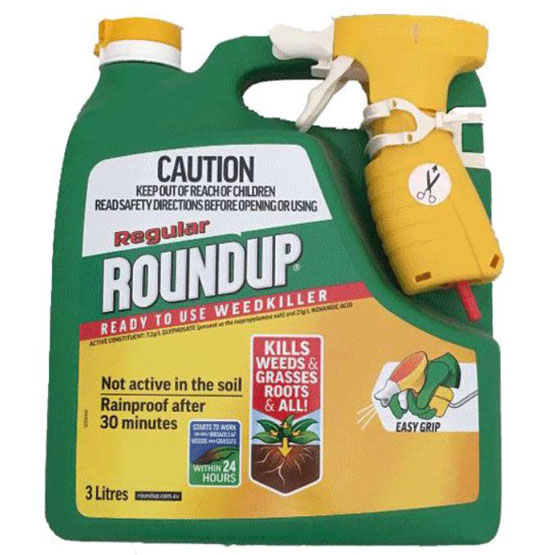 Weedkiller Round Up Regular Ready-to-Use Herbicide 3L